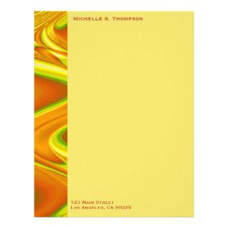 yelllow orange abstract custom letterhead