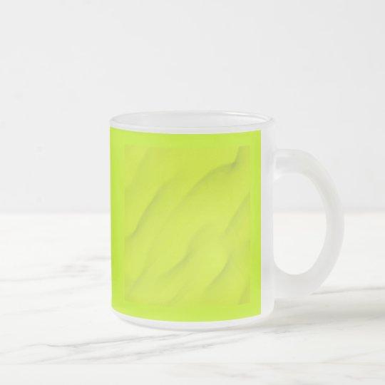yello071 frosted glass coffee mug