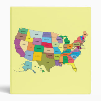 Yello Binder with United States Map