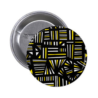 Yello Black Abstract 2 Inch Round Button