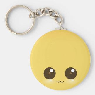 Yello Kawaii Face Keychain