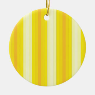 Yello Stripes Double-Sided Ceramic Round Christmas Ornament
