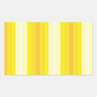 Yello Stripes Rectangular Sticker