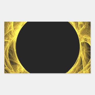 Yello y pegatina negro del rectángulo del fondo