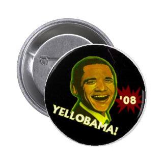 Yellobama! '08 pinback button