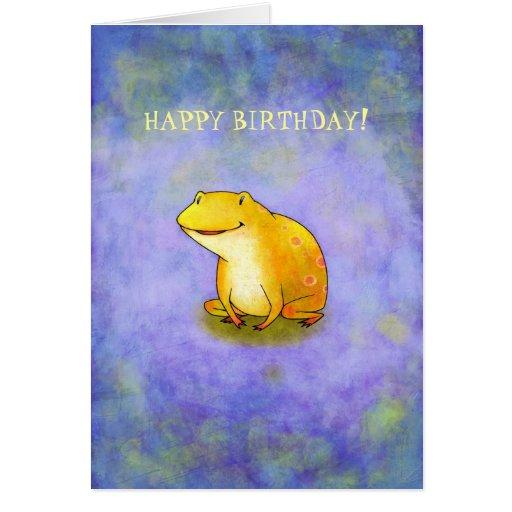 Yellor Frog Card(customizable)