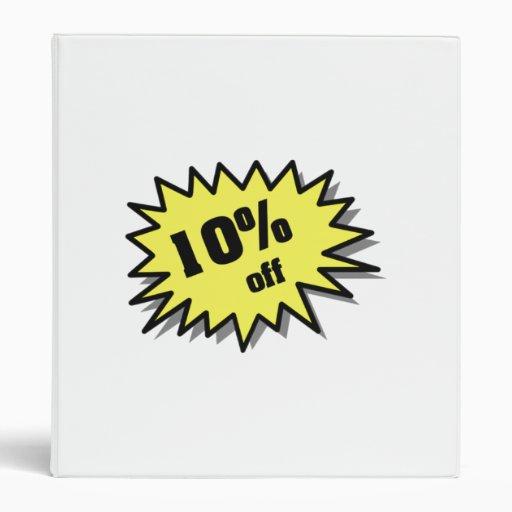Yellow 10 Percent Off Vinyl Binders