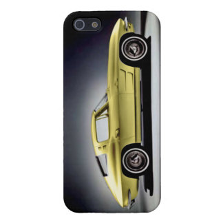 Yellow 1963 Corvette Sting Ray Cover For iPhone SE/5/5s