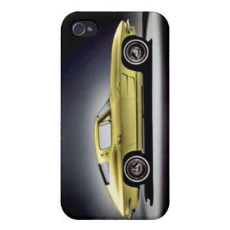 Yellow 1963 Corvette Sting Ray Covers For iPhone 4