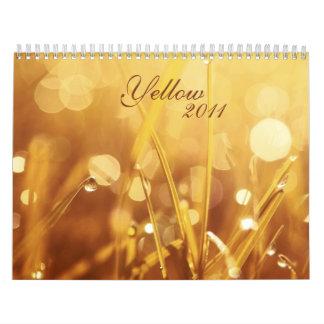 Yellow 2011 calendar