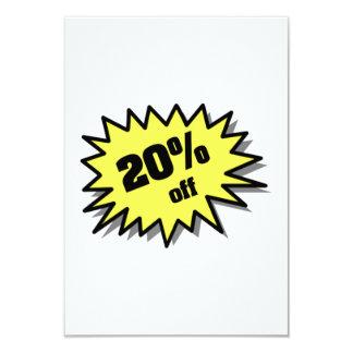 Yellow 20 Percent Off Custom Invites