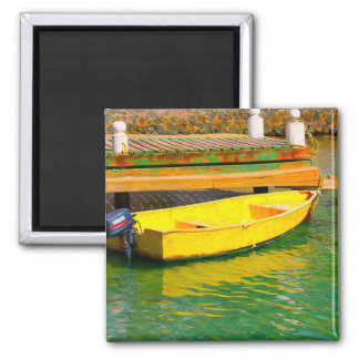 yellow 2 inch square magnet