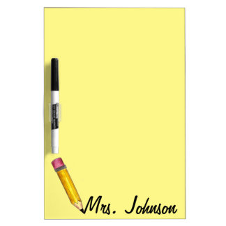 Yellow #2 Pencil Personalized English Teacher Gift Dry Erase Board