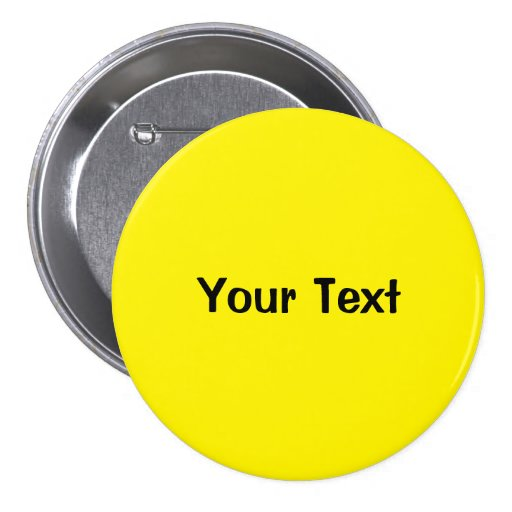 "Yellow 3"" Custom Text Button Template"