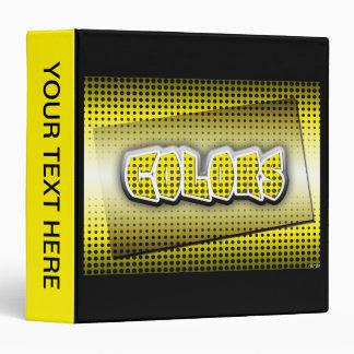 Yellow 3 Ring Binder