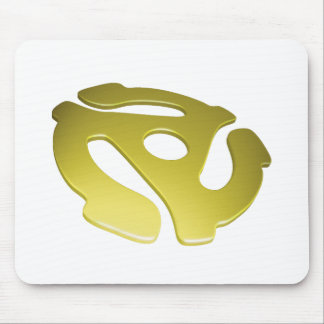 Yellow 3D 45 RPM Adapter Mouse Pad