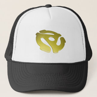 Yellow 3D 45 RPM Adapter Trucker Hat