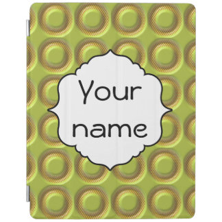 Yellow 3d circles pattern iPad cover