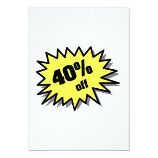 Yellow 40 Percent Off Invites