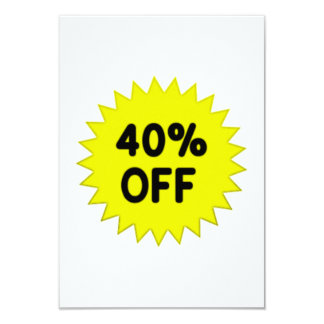 Yellow 40 Percent Off Announcement