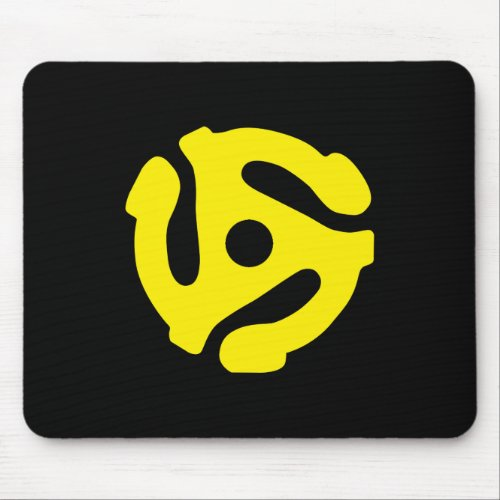 Yellow 45 spacer graphic mouse pad