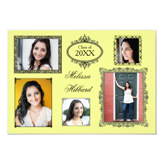 Yellow 5 Frames/Photos - 3x5 Grad Announcement