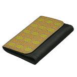 Yellow 60's Retro Fractal Pattern Wallet