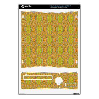 Yellow 60's Retro Fractal Pattern Xbox 360 S Decals