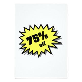 Yellow 75 Percent Off Custom Invitations