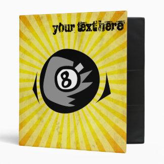 Yellow 8 ball binder