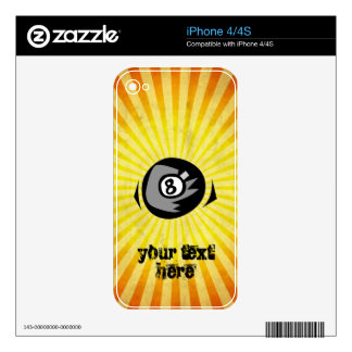 Yellow 8 ball iPhone 4S decals