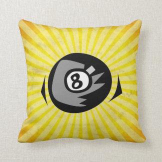 Yellow 8 ball throw pillow