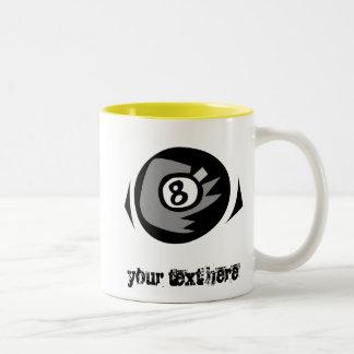 Yellow 8 ball Two-Tone coffee mug