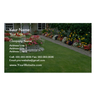 yellow A quaint English garden, London, England fl Business Card