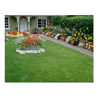 yellow A quaint English garden, London, England fl Postcard