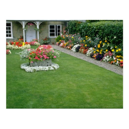 yellow A quaint English garden, London, England fl Postcards