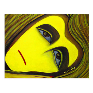 Yellow Abstract Art Card From Original Painting