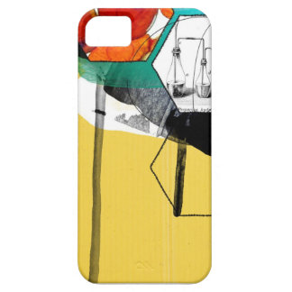 yellow abstract art iPhone SE/5/5s case