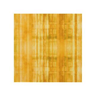 Yellow Abstract Art Stripes Wood Wall Art