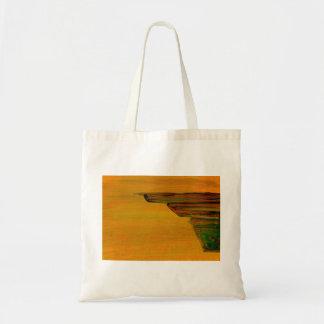 Yellow Abstract Design Budget Tote Bag