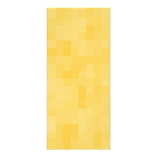 Yellow Abstract Design. Personalized Rack Card