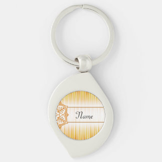 Yellow Abstract Flower Keychain