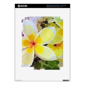 Yellow Abstract Flowers iPad 3 Skin