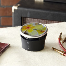 Yellow Abstract Flowers Speaker
