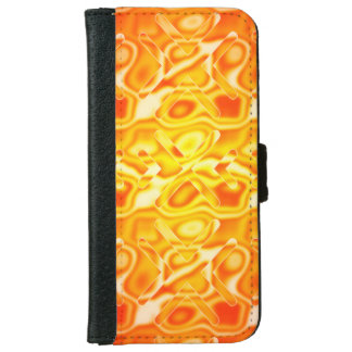 Yellow Abstract Honey X Pattern iPhone 6/6s Wallet Case