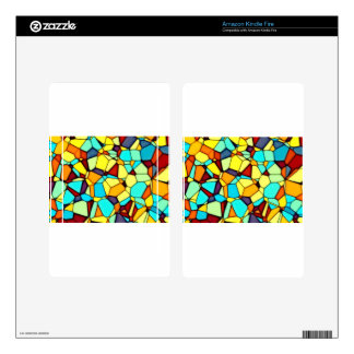Yellow abstract kindle fire decals
