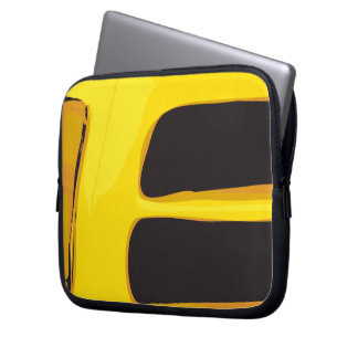 Yellow abstract Laptop sleeve
