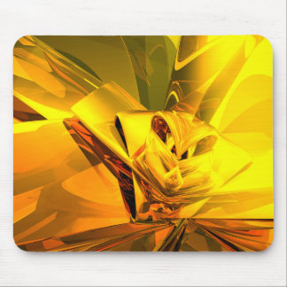 Yellow Abstract Mouse Pad