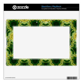 Yellow abstract patter decals for BlackBerry