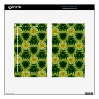 Yellow abstract patter skin for kindle fire
